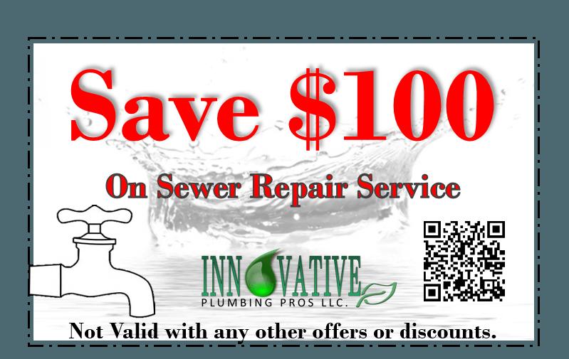 $100 off of sewer line repair in Las Vegas