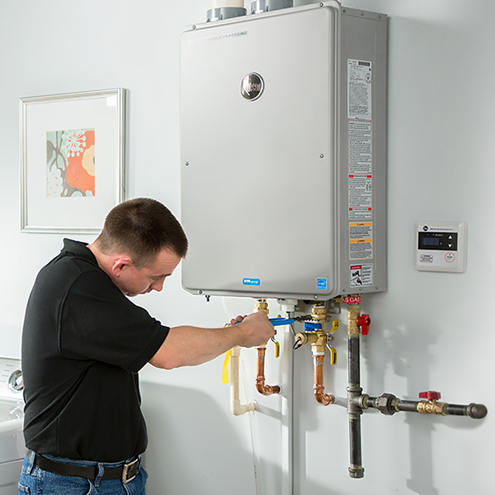 plumber-installs-tankless-water-heater