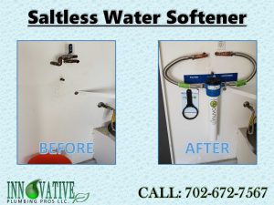 Plumber installs water softener from Innovative Plumbing Pros