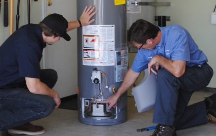 Plumbers repair water heater in Valley View, Henderson, NV