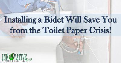 plumber install bidet