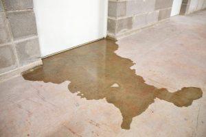 slab-leak-sign-water-pooling