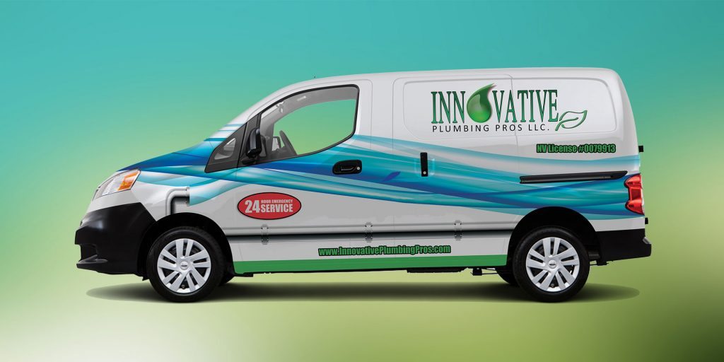 Logoed plumbing truck for Innovative Plumbing Pros Henderson